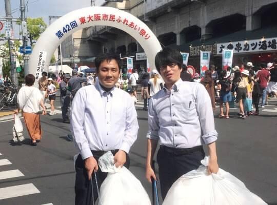 東大阪市民ふれあい祭りにボランティア参加01